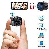 Camara Espia Oculta WiFi HD 1080P TANGMI Mini Videocámara Inalámbrica Cámara de Seguridad con Detector de Movimiento IR Visión Nocturna 160°