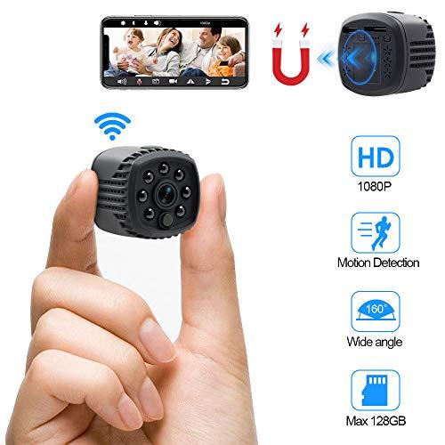 Mini Kamera WiFi WLAN Kleine Überwachungskamera HD TANGMI Tragbare Mikro Nanny Cam mit Bewegungserkennung und Infrarot Nachtsicht 140°