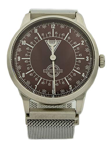 Junkers 6362-2 Automatic Monotimer Men's Aviator Watch Limited Edition Milanese Bracelet Made in Germany