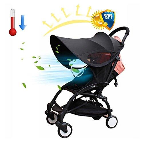 Cojín del cochecito de sombra de Ray, Cochecito de bebé Cubierta de la sombrilla Anti-UV Bebé universal Canopy completa Mosquitera Sun Shield Protection Accesorios de tela