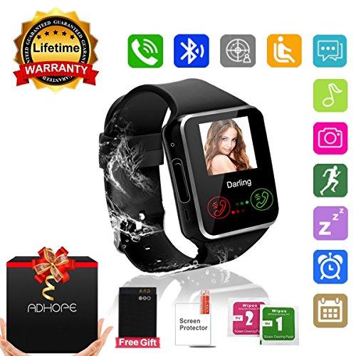 Bluetooth Smart Watch Phone Touchscreen Armbanduhr Handy-uhr Sport Smartwatch Uhr Wasserdicht Fitness Intelligente Smart Uhr Telefon Kompatible IOS Andriod Iphone X 8 7s Smartphones für Herren Damen