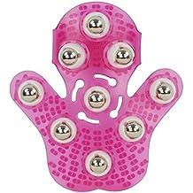 landsell masajeador bola Palma masajeador guante bola de metal rolling masaje cuerpo mano masajeador belleza masajeador guante–de profundidad rosa