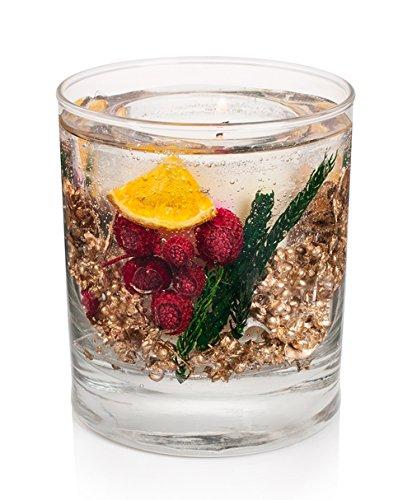 Fruit Gel-kerze (Stoneglow Candles Botanicals Winter Spice Gel Tumbler Wachskerze mit echten Fruit & Spice)