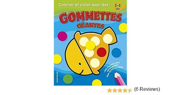 Colorier Et Coller Avec Des Gommettes Geantes Amazon Fr Engelen