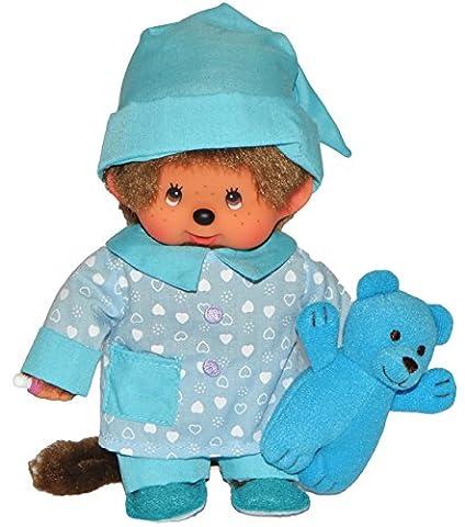Monchhichi Junge mit Pyjama - 20 cm Monchichi Boy Mütze