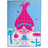 ROOM STUDIO Worlds Apart Trolle Queen Poppy Carpet, PU, Blau/Rosa, 1.5 x 133 x 95 cm