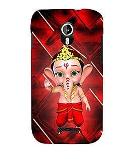 Little Ganesh 3D Hard Polycarbonate Designer Back Case Cover for Micromax Canvas Magnus A117
