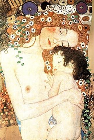 Gustav Klimt Mother And Child Art Print Poster 30x46