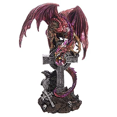 Celtic Tombstone Dark Legends Dragon Figurine