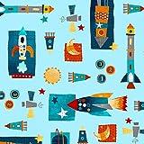 Platz Stoff-Space Rockets Raketen