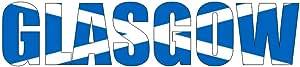 Samunshi® Wandtattoo Glasgow Schriftzug Wandaufkleber in 8 Größen (100x23cm)