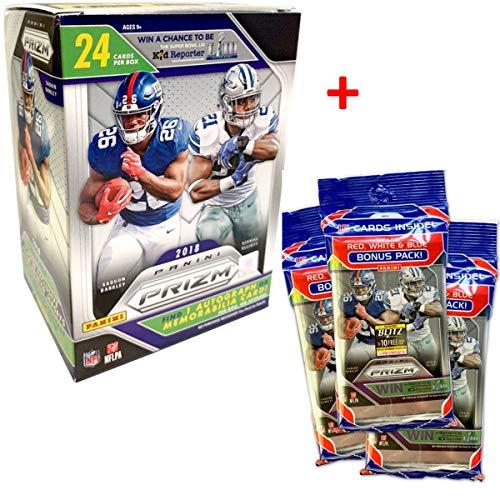 Panini PRIZM 2018-2018 NFL Trading Cards Blasterbox (6 Packs) - 3 Bonus Packs zum Preis von 2