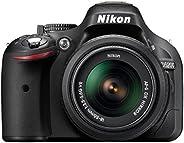 Nikon D5200 Fotocamera Digitale SLR, 24.1 Megapixel, Display TFT da 3 Pollici, Kit incluso Obiettivo AF-S DX 1