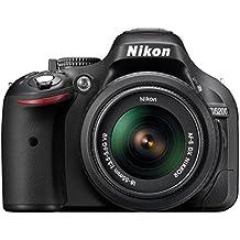 Nikon D5200 Appareil photo numérique Réflex 24,2 Mpix Kit Boîtier + Objectif 18-55 Mm DX VR Noir (Reconditionné)