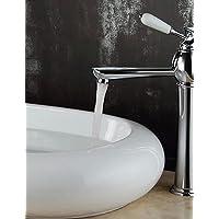 contemporanea ottone lavandino rubinetto del bagno (montaggio a parete)