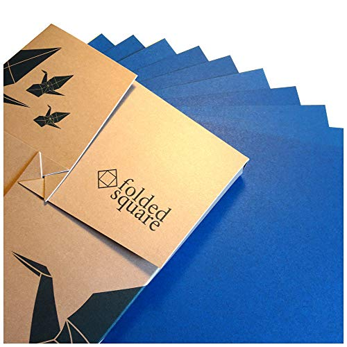 Blau Origamipapier | 100 Blatt, 15cm Quadrat | Pantone 301 -