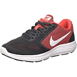 Nike Revolution 3, Zapatillas de Running Hombre, Gris (Anthracite/White/Track Red), 42 1/2 EU