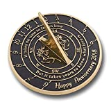 The Metal Foundry 'Love Is' Sundial Gift Idea Is A Great Present For Him, For Her Or For A Couple To Celebrate Years Of Marriage