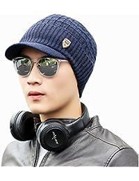 Bluestercool Berretto Invernale Uomo Con Visiera Cappelli Uomo Cotone  Eleganti ca43e02ec28e