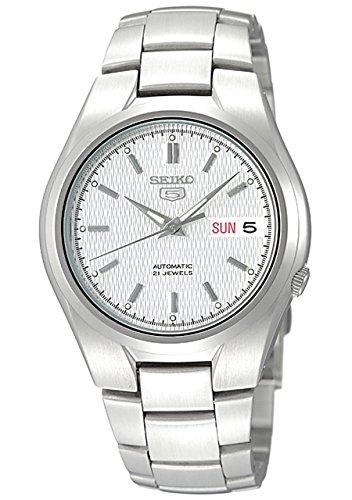 Seiko Herren-Armbanduhr XL Analog Automatik Edelstahl SNK601K