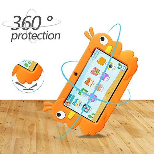 Dkings Kinder Tablet Android Quad Core 7 Zoll Tablet für Kinder Edition Tablet mit WiFi Kamera Spiele IPS Sicherheit Augenschutz Bildschirm 1 GB 16 GB Speicher (Orange)