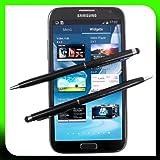 2x Schwarz tomaxx Stylus Pen - Eingabestift + Kugelschreiber für HTC Desire 700, Archos 45 Helium 4G, Archos 50 Helium 4G, Samsung Galaxy Core Advance i8580, LG G2 Mini, Medion Life P4501, HTC One Dual SIM, Nokia Lumia 525, Motorola Moto G, LG G Flex, Nokia Lumia 1320, Nokia Asha 503, Samsung Galaxy S4 Mini Duos I9192 black Stylus