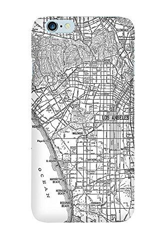 iPhone 4/4S Coque photo - Retro Map Los Angeles Noir