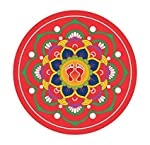 Sticker Based,Traditional Art Work for Diwali,Indian Rangoli Sticker,Spiritual and Amazingly Beautiful Sticker, Set of 5...