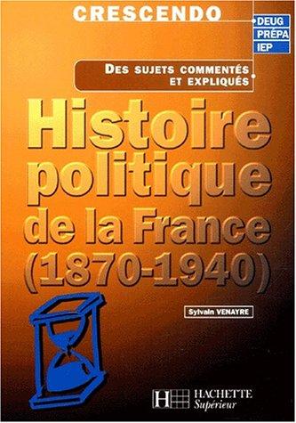 Histoire politique de la France (1870-1940)