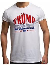 T-Shirt pour hommes slogan 'Trump For President American Presidential Election' Election présidentielle #2 T-shirt unisexe