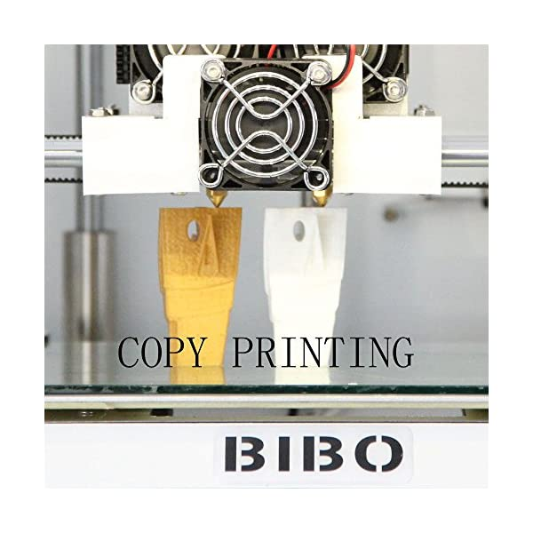 BIBO 3D Printer Metal Frame Dual Extruder Laser Engraving WIFI Touch Screen  Cut Printing Time In Half Filament Detect Demountable Glass Bed