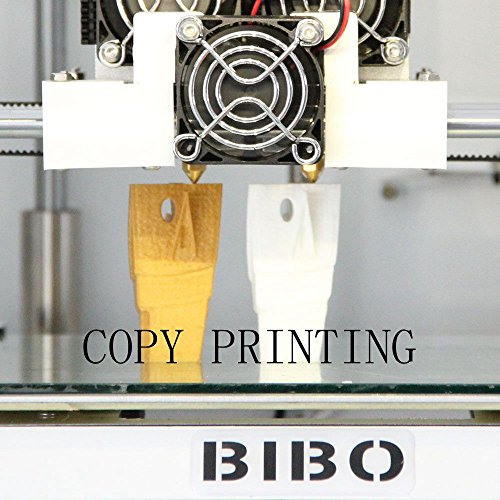 BIBO 3D Drucker Metal Frame Dual Extruder Laser Engraving WIFI Touch Screen Cut Printing Time In Half Filament Detect Demountable Glass Bed -
