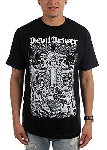 DevilDriver Delusional Haze-Maglietta da uomo Nero  nero