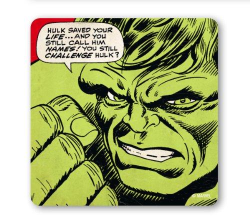 Untersetzer Untersetzer Hulk - Marvel Comics - Saved Your - Bierdeckel - Lizenziertes Originaldesign - (Banner Kostüm Bruce)