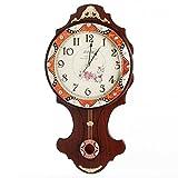 GLJY Wanduhr Das alte Parlament Lounge große Wanduhr Quarzuhr Pendeln Pastorale Mute Einfachheit der Stunden