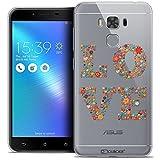 Caseink - Coque Housse Etui pour ASUS Zenfone 3 Max Plus ZC553KL (5.5) [Crystal Gel HD Collection Summer Design Love Flowers - Souple - Ultra Fin - Imprimé en France]