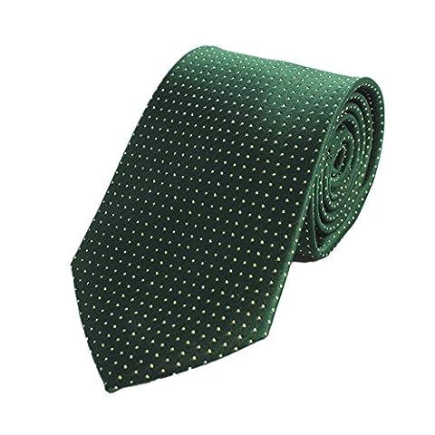 Z-P Mens Luxury Elegant Necktie Green Luxury Elegant Necktie Knit Woven Jacquard Skinny Tie
