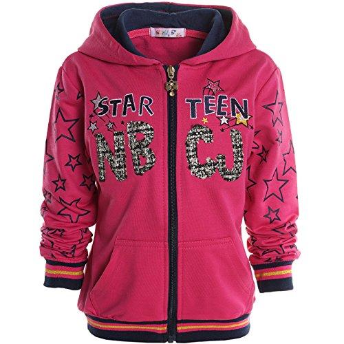 Mädchen Kinder Kapuzen Pullover Hoodie Sweat Shirt Jacke Langarm Winter 20714