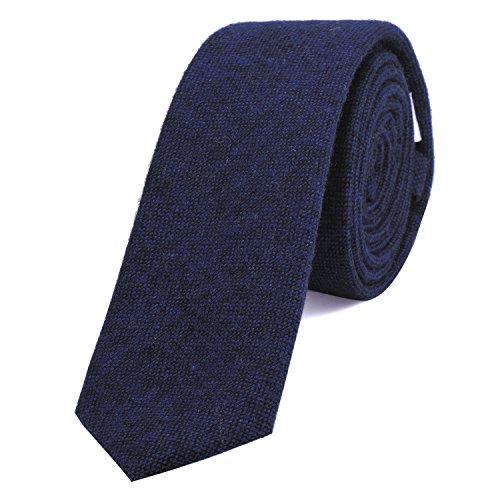 Dondon cravatta stretta da uomo 6 cm cotone - blu scuro-nero