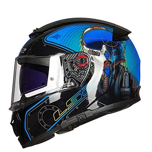 Klapphelm Integralhelm mit Doppelvisier Smart Motorradhelme Downhill Fullface Motorrad Helm Universal für Männer und Frauen Elektrischer Fahrradhelm,XL