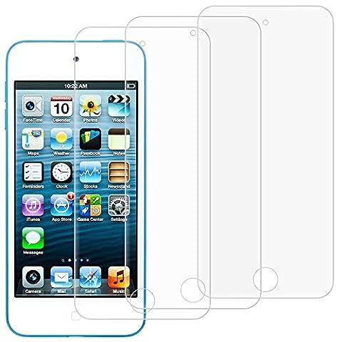 Protecteurs D'écran pour iPod Touch 6ème 5ème Génération, AFUNTA Lot de 3 Films de Protection en Verre Trempé, Couverture Pleine Anti-rayures Sans Bulle pour Apple iPod Touch 5 6