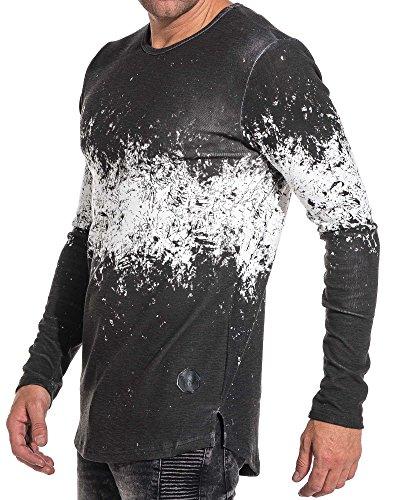 Project X Tshirt homme noir tie and dye manches longues - couleur: Noir - taille: L/XL