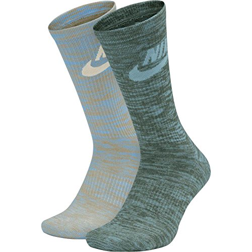 Calcetines Nike – Sportswear Advance Crew (2 Pair) azul/verde/blanco talla: 42 al 46 EU I 8-12 USA I 8-11 UK