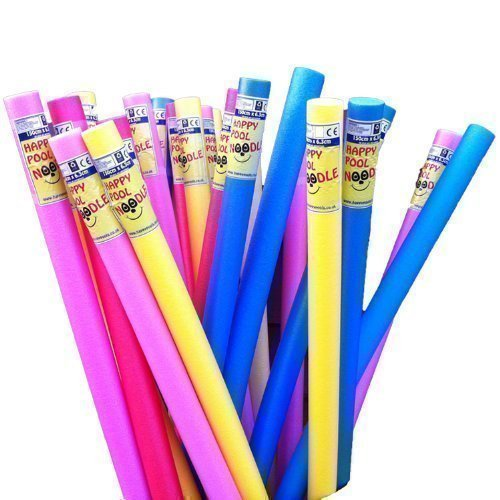 Happy-Yellow-Swimming-Pool-Noodle-Float-Aid-Woggle-Flexi-Aqua-by-HAPPY-HOT-TUBS