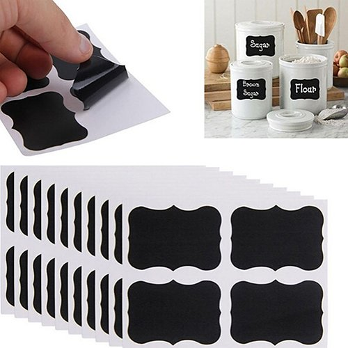 & Zubehör 36 Stück Tafel Kreidetafel Aufkleber Craft Jar Etiketten Küche Büro Schule multi ()