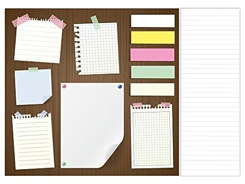 Schreibtischunterlage Modernes Design Desktop - DIN A3, aus Papier zum Abreißen, 25 Blatt Schreibunterlage