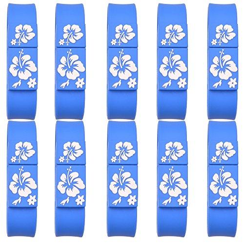 Uflatek 10 Stück 16 GB Blau USB 2.0 Stick Speicher Pendrive Speicherstick U-Disk USB-Stick Memory Stick