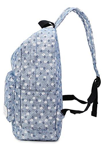 Longzibog Einfache und Modedesign. Nie aus der Mode. 2016 Neue Schulrucksäcke/Rucksack Damen/Mädchen Vintage Schule Rucksäcke mit Moderner Streifen für Teens Jungen Studenten Pink 1