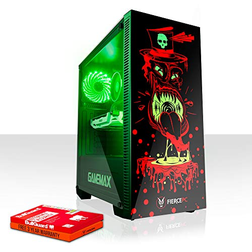 Fierce Invader RGB Gaming PC - Schnell 4.0GHz Hex-Core Intel Core i5 8400, 240GB Solid State Drive, 1TB Festplatte, 16GB 2666MHz, NVIDIA GeForce GT 1030 2GB, Windows Nicht Enthalten 1057239