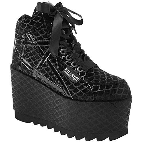 Killstar - Zapatillas de Sintético para Mujer Negro Negro One Size, Color Negro, Talla 41 EU